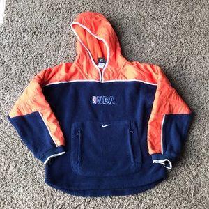 Vintage NIKE NBA fleece pullover jacket Medium 12